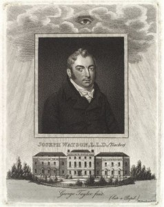 "Joseph Watson, head of the Asylum for many years & Author of ""Instruction for the Deaf and Dumb"" in 1809"