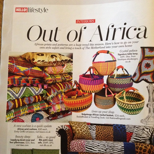Out of African - interiors Hello! magazine 3 Feb 14