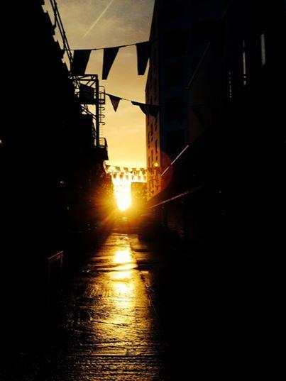 sunrise at Maltby St Market