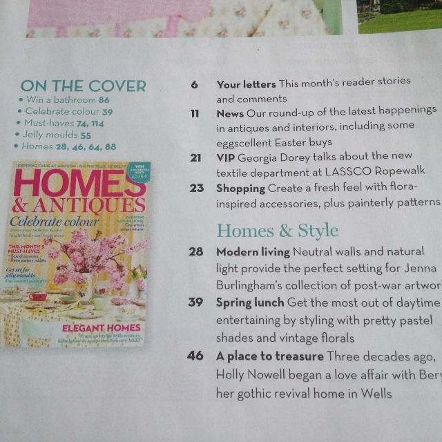 April 2014 contents Homes & Antiques