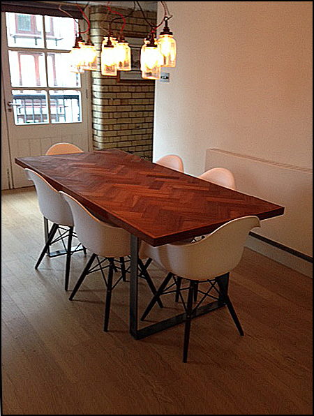 The table at home, river side, Wapping