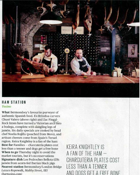 Bar Tozino in Evening Standard/Lifestyle