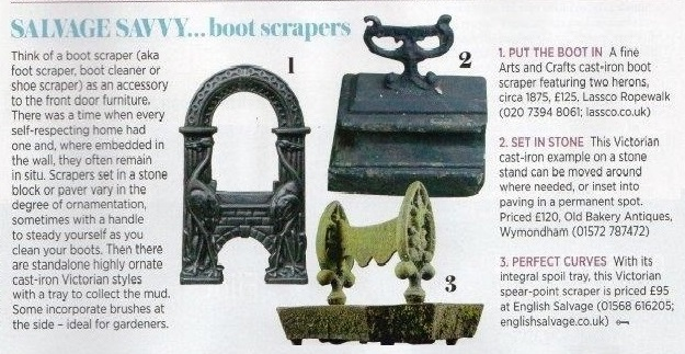 Salvage Savvy...boot scrapers