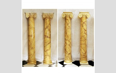 Two pairs of Convent Siena scagliola columns