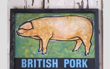 British Pork framed poster