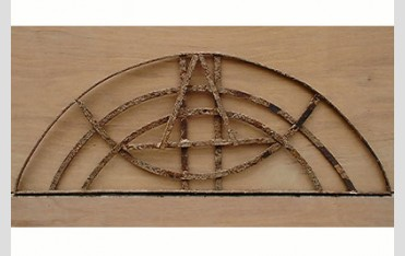 19th century Mediterranean wrought iron overdoor panel at LASSCO Three Pigeons