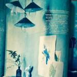 Blue enamel pendant lights at LASSCO Brunswick House