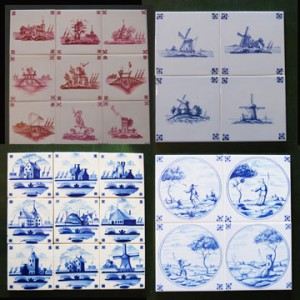 Traditional Delft tiles