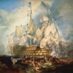 Turner, The battle of Trafalgar 1822