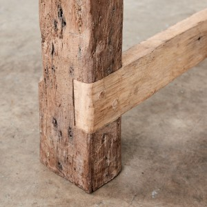 Constructed from Victorian Oak farm gate rails