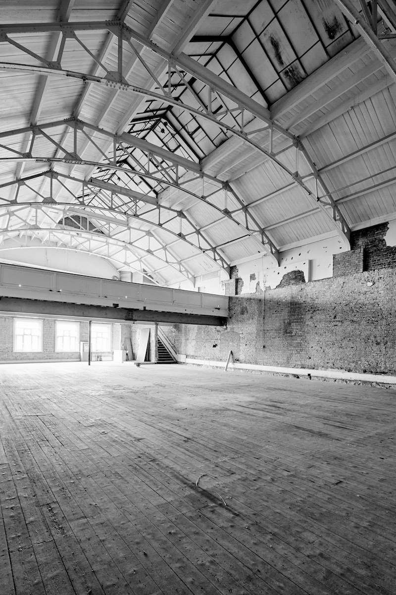 Another view of a huge Victorian era warehouse in peckham