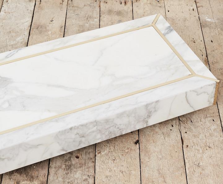 carrara marble plinth
